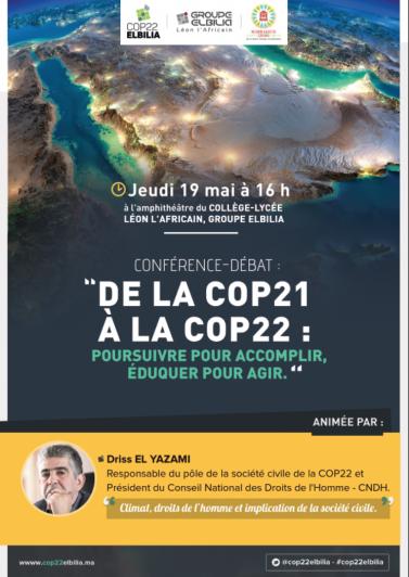 COP22 Elbilia - 1re Conférence-Débat